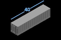 40ОP Морські контейнери Open Top 40 футів