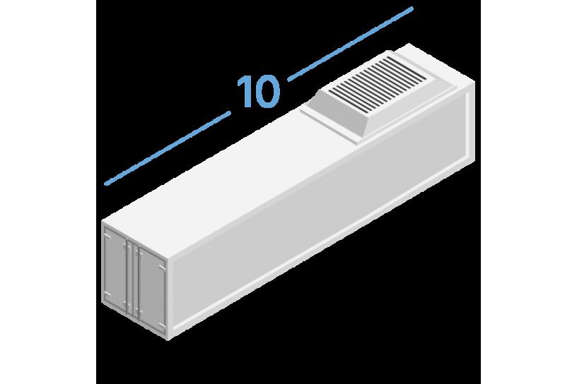 10RF Рефрижераторні контейнери 10 футів