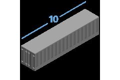 10DC Морські контейнери 10 футів