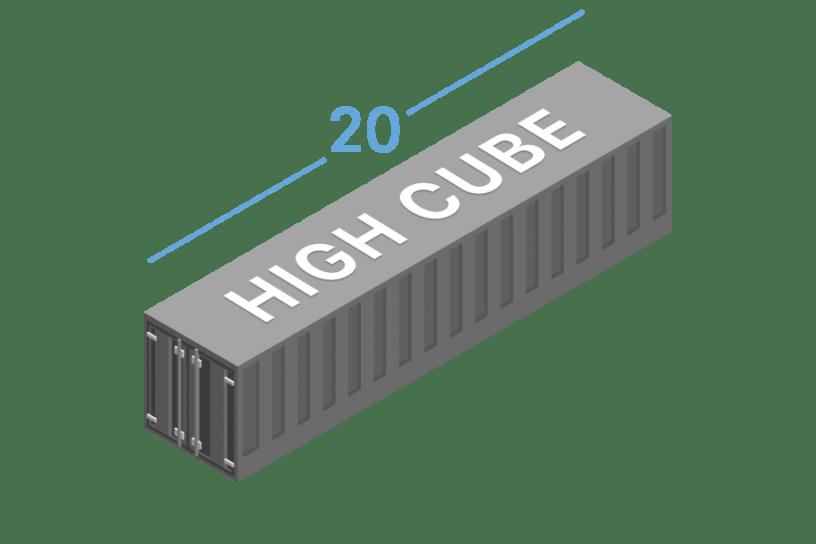 20HC Морські контейнери 20 футів high cube